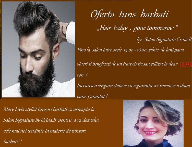 Promotie Tunsori Barbati Hair Today Gone Tomorrow By Salon